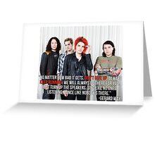 Gerard Way Quote #4 Greeting Card