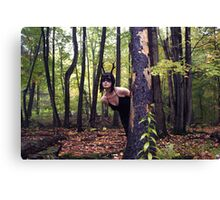 Danger in the Forest Canvas Print