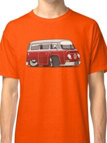 VW T2 Microbus cartoon red Classic T-Shirt