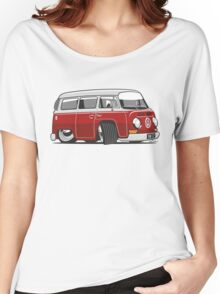 VW T2 Microbus cartoon red Women's Relaxed Fit T-Shirt