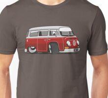 VW T2 Microbus cartoon red Unisex T-Shirt