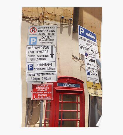 Restricted Parking Poster