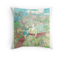The Raven Carries the Key Throw Pillow