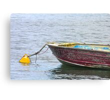 Resting on the moorings Canvas Print