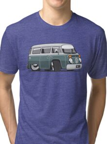 VW T2 Microbus cartoon green Tri-blend T-Shirt