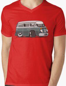 VW T2 Microbus cartoon green Mens V-Neck T-Shirt