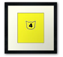 Fours have chores Framed Print