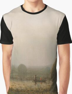 Martin Johnson Heade - The Great Swamp 1868. Field landscape: field landscape, nature, village, garden, flowers, trees, sun, rustic, countryside, sky and clouds, summer Graphic T-Shirt