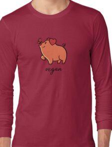 Vegan Pig Butterfly Long Sleeve T-Shirt