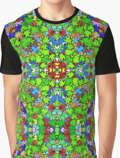 3D COLLIDE-O-SCOPE LEAFY MADNESS! Graphic T-Shirt