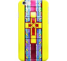 Stained Glass Crucifix - Yellow iPhone Case/Skin