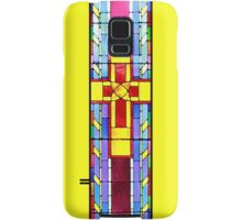 Stained Glass Crucifix - Yellow Samsung Galaxy Case/Skin