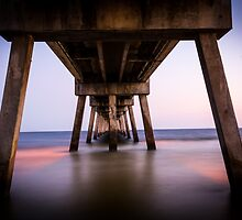 Pier At Sunset by Dustin Williams