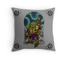 Lucca and Robo, pillow & tote Throw Pillow