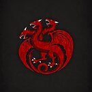 House Targaryen Minimalist by Digital Phoenix Design