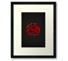 House Targaryen Minimalist Framed Print