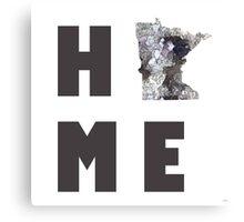 "Minnesota ""HOME"" Canvas Print"