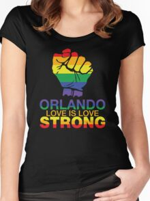 Love Is Love, Orlando Strong Women's Fitted Scoop T-Shirt