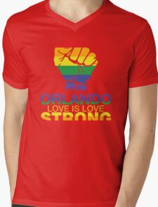 Love Is Love, Orlando Strong Mens V-Neck T-Shirt