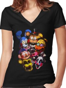 THE NEW FACES OF FUN!! Women's Fitted V-Neck T-Shirt