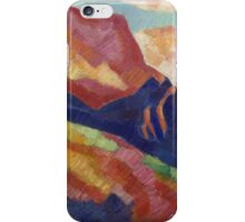 Marsden Hartley - Mont Sainte-Victoire. Mountains landscape: mountains, rocks, rocky nature, sky and clouds, trees, peak, forest, rustic, hill, travel, hillside iPhone Case/Skin