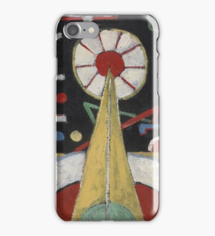 Marsden Hartley - Painting No. 3. Abstract painting: abstract art, geometric, expressionism, composition, lines, forms, creative fusion, spot, shape, illusion, fantasy future iPhone Case/Skin
