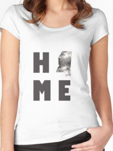 """Mississippi """"HOME"""" Women's Fitted Scoop T-Shirt"""