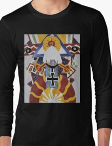 Marsden Hartley - Painting Number 49, Berline. Abstract painting: abstract art, geometric, expressionism, composition, lines, forms, creative fusion, spot, shape, illusion, fantasy future Long Sleeve T-Shirt