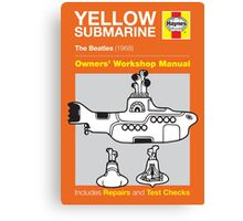 Haynes Manual - Yellow Submarine - Poster & stickers Canvas Print