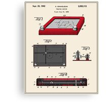 Etch-A-Sketch Patent Canvas Print