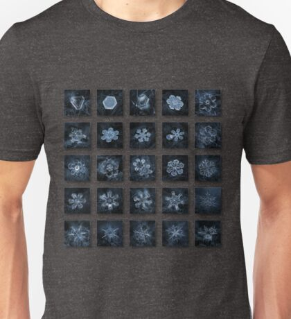 Snowflake collage - Season 2013 dark crystals Unisex T-Shirt