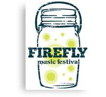 FIREFLY Music Fest - Artwork Canvas Print