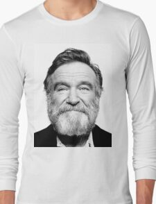 robin williams beard Long Sleeve T-Shirt