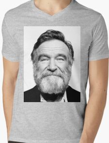 robin williams beard Mens V-Neck T-Shirt