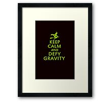 Wicked. Keep Calm And Defy Gravity. Framed Print