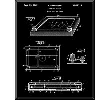 Etch-A-Sketch Patent - Black Photographic Print