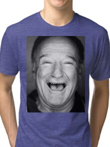robin williams black and laugh Tri-blend T-Shirt