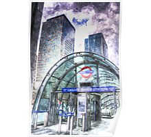 Canary Wharf Station Art Poster