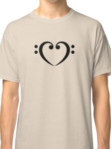 Bass Clef Heart, Music, Musician, Party, Festival, Dance Classic T-Shirt
