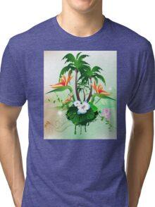 Flowers Tri-blend T-Shirt