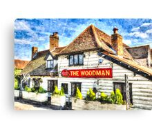 The Woodman Pub Canvas Print