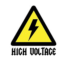 AC/DC High Voltage sign Photographic Print