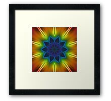 Coloured Rays Kaleidoscope 002 Framed Print