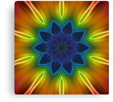 Coloured Rays Kaleidoscope 002 Canvas Print