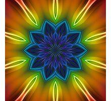 Coloured Rays Kaleidoscope 002 Photographic Print
