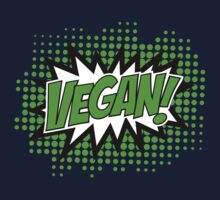 Go Vegan, Comic Book Style Kids Clothes