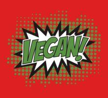 Go Vegan, Comic Book Style Kids Tee