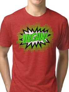 Go Vegan, Comic Book Style Tri-blend T-Shirt