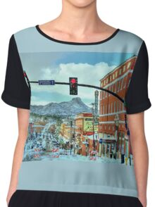 After A Snowstorm In Prescott Arizona  Chiffon Top