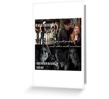 Alec and Clary - Protect our family Greeting Card